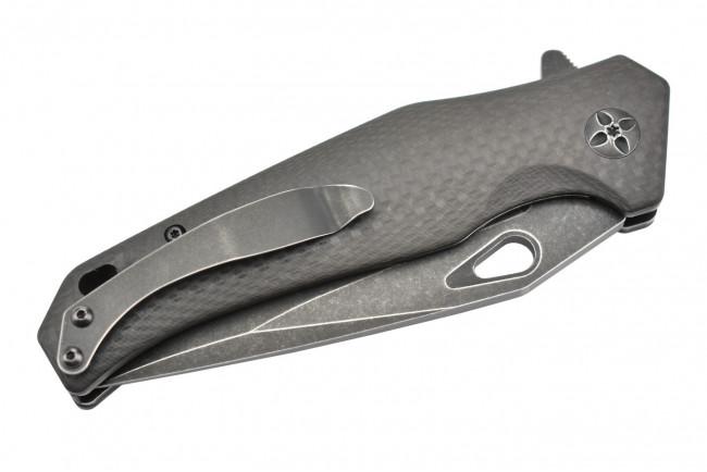 Maxknives MK130-CF Lame acier D2 manche fibre de carbone