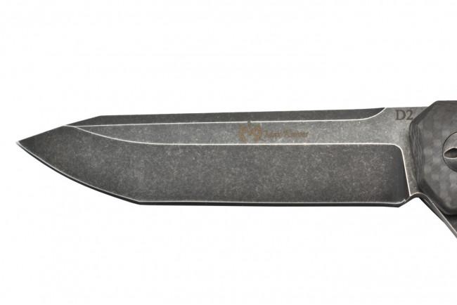 Maxknives MK133-CF Lame acier D2 manche fibre de carbone
