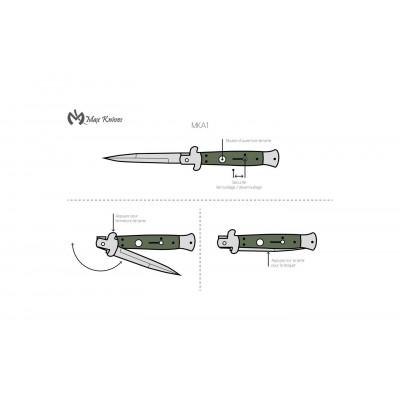 Max Knives MKA1 - Couteau automatique italien