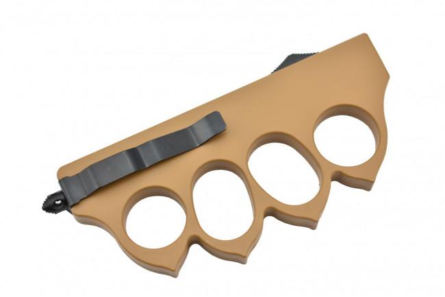 Maxknives MKO13T1 Couteau automatique poing américain 1918 lame acier manche zinc aluminium