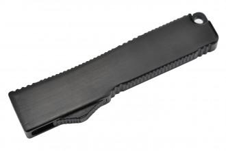 MKO30N Petit couteau OTF automatique aluminium anodisé noir