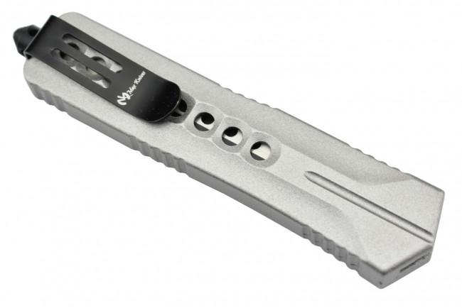 MKO5S Couteau automatique OTF aluminium anodisé finition silver