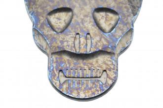 MaxKnives MKSMC+ Pince à billet Skull titane anodisé arc-en-ciel