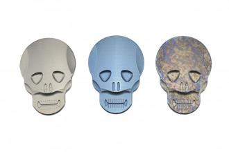 MaxKnives MKSMC Pince à billet Skull titane naturel