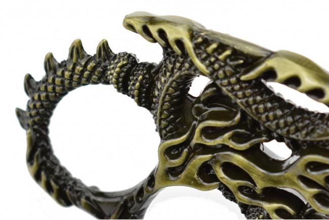Maxknives PA35 Poing américain à 4 doigts serpent-dragon