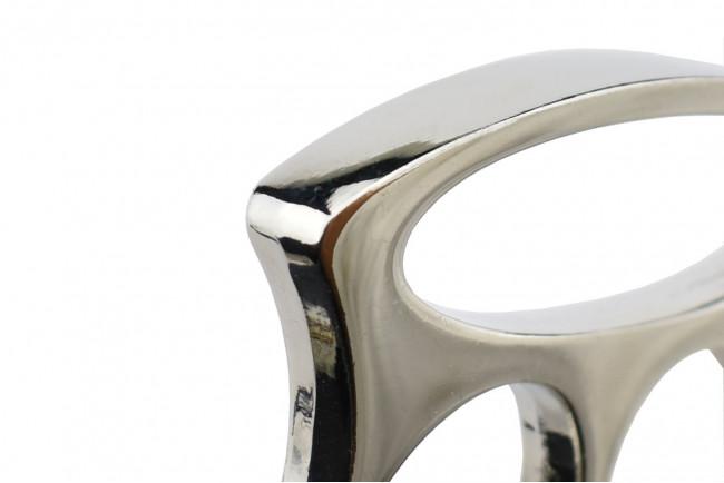 Max Knives PA6S - Poing américain métal chromé argenté