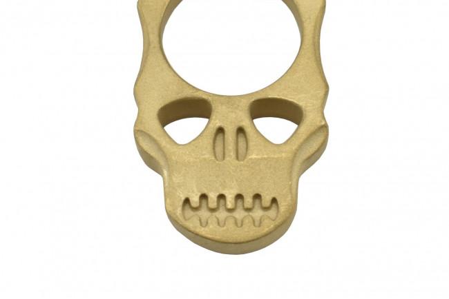 Maxknives PASKLS Poing américain Skull en laiton finition sablé