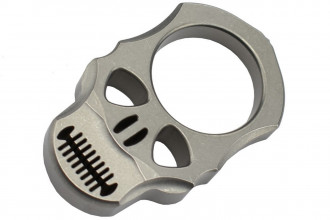 MaxKnives TIKNU4 - Impact Skull knuckle Titane naturel